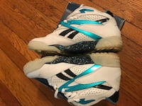 white-and-blue Nike basketball shoes Quincy, 02169