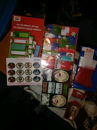 Christmas tags and stickers  249 mi