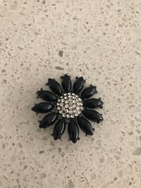 clear and black jeweled flower brooch Richmond, V7C