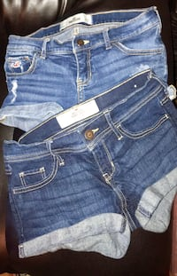 "2 Pairs of Hollister Denim Shorts Size 1 w25"" Perfect Condition! 2 for $10 Glendale, 85302"