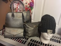 women's gray leather Ugg bag and knit cap set Gaithersburg, 20879