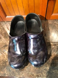 Dansko blue marbled clogs.  They have some scuffs on them but still lots of life left! Paid $125 for them.  Asking $10.  Size 39   Tallahassee, 32312