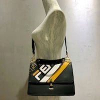 women's black and brown leather sling bag Singapore, 821669