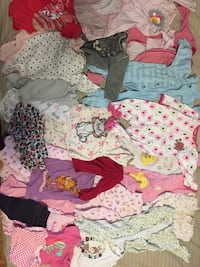 Baby girls assorted clothes 3-6 months 549 km
