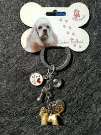 silver i love dogs Cocker Spaniel keychain Curtice, 43412