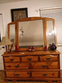 Soldi wood dresser with 7 drawers and big mirror,  Annandale, 22003