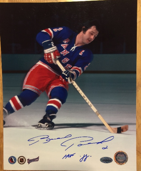 low cost 63b2f 4cd6a BRAD PARK Autographed Inscribed New York Rangers NHL Hockey Photo
