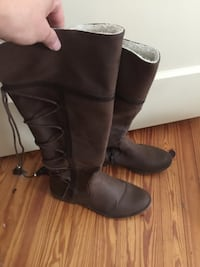 pair of brown leather knee-high boots Gulfport, 39501