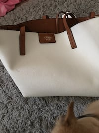 White and brown leather tote bag Halton Hills, L7G 1K0