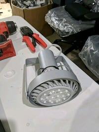Track head with LED bulb