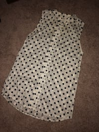 Jcrew White and black polka dot sleeveless dress Rockville, 20850