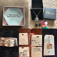 Jewelry Lot with a Jewelry Dish, New.  Schererville