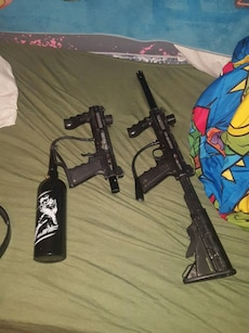 2 tippmann paintball guns