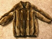 REAL muskrat fur and leather reversible coat