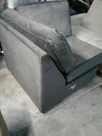 Charcoal Suede Corner Chair from Sectional  Branson, 65616