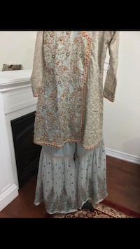 women's white and brown floral dress Toronto, M1L 0B1