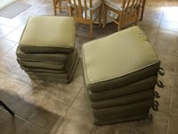 Set of 6 beige patio chair cushions in excellent condition. Limoges, K0A 2M0