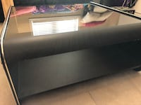 Black with glass coffee table  520 km