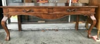 "#23442 Vintage 21"" x 77"" Claw Foot Console Table Oakland, 94610"