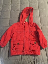 Old Navy Red zip-up jacket sz 3T Paramount, 21742