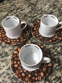 set of 3 espresso cups/saucers Holiday, 34690