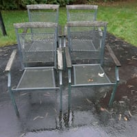 Set of 4 iron patio chairs  Liverpool, 13090