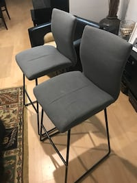 Two Modern Padded Barstools Fairfax, 22032