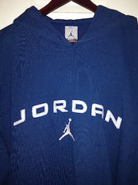 Reduced!! NIKE AIR JORDAN Ble Hoodie Men's Size 2XL XXL SPELLED OUT  Cornwall, ON, Canada
