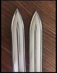 "Vintage 1950s style car side molding flexible  1 1/4 "" White w Chrome Surrey, V3V 1X1"