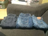 Box of used women's clothing still in good, used condition. M to XL