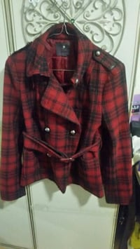 red and black plaid button-up jacket Vancouver, V6A 3K9