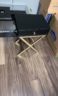 Black and Gold side-table/nightstand  Vienna, 22182