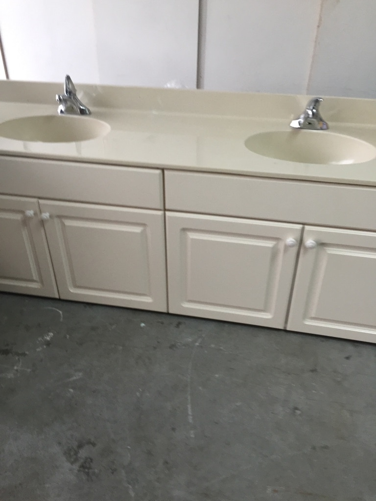 letgo double bathroom vanity 81 in in coral springs fl