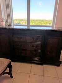 brown wooden dresser with mirror Simcoe County, L0L 2J0