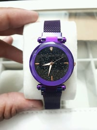 Ladies Metallic Purple Magnetic strap