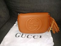 Brown leather gucci sling bag 2267 mi
