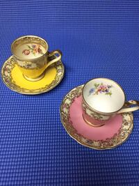 Two Demitasse cups and saucers Hamilton, L8K 4W8