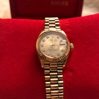 round silver-colored Rolex analog watch with link bracelet 2404 mi