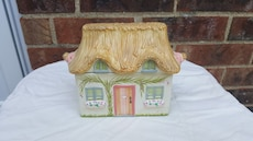 white and brown house miniature