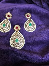 New beautiful stone , pearl , ruby, emerald custom made set on silver  Pickering, L1V 4X1