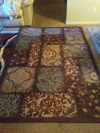 brown, red, and green floral area rug Fresno, 93727