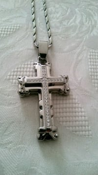 Half Pound Stainless Steel Cross Chain New London, 06320