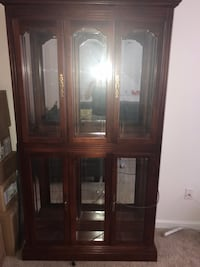 Cherry wood curio cabinet Baltimore