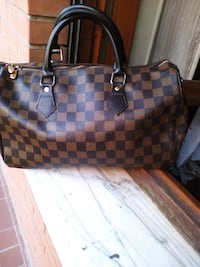 tote bag in pelle marrone e nera