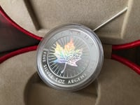 2001 Silver Maple Leaf Hologram Coin - Good Fortune by the Royal Canadian Mint. Ajax, L1Z 1P9