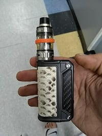 black and gray Smok variable box mod