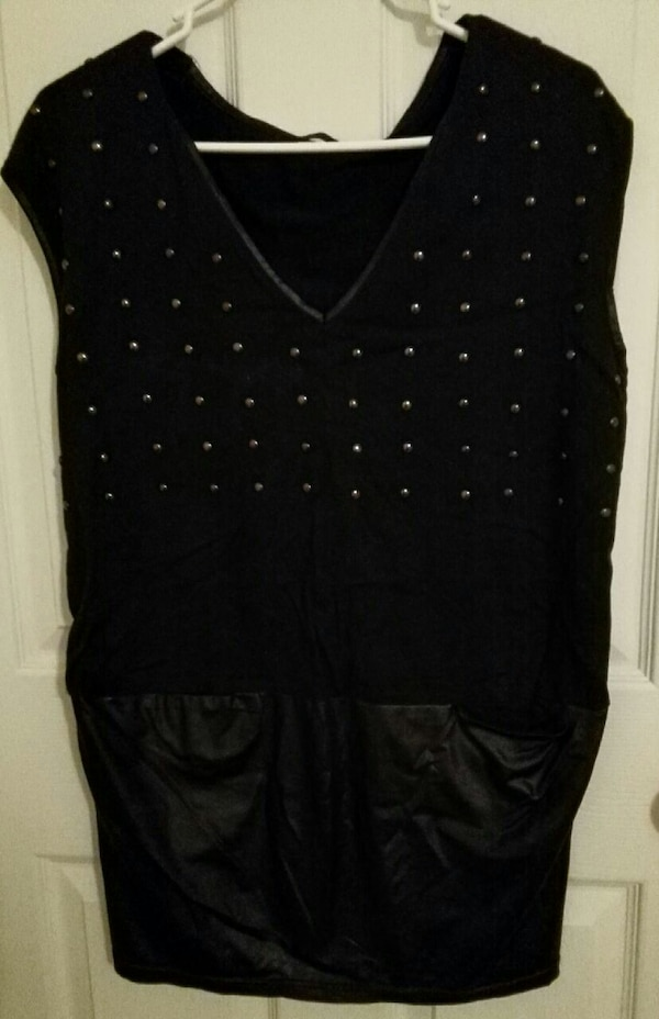 Black stud dress size S-M