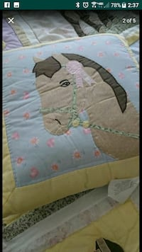 Full size horse quilt with extras