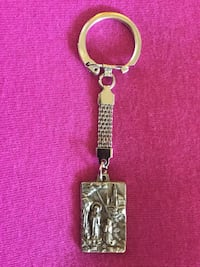 Keychain Religious image  engraved embossed / From the National Shrine Catholics Cathedral Alexandria, 22311