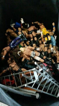 WWE WRESTLERS ACCESSORIES AND RING  Brampton